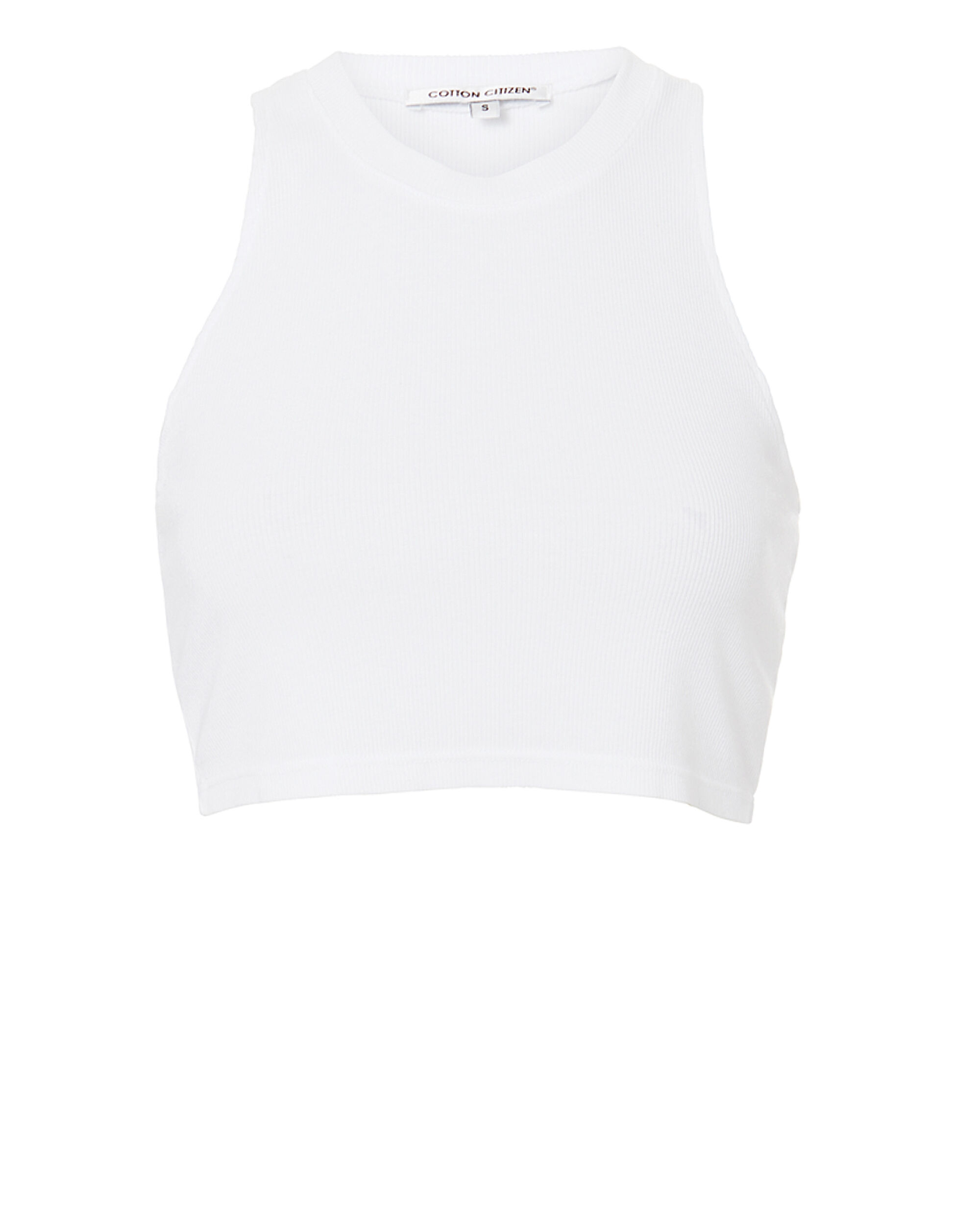 Venice Cropped Tank, WHITE, hi-res