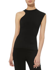 Amata Cutout Black Top, BLACK, hi-res