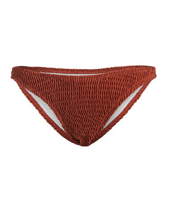 Ashley Smocked Bikini Bottoms, CINNAMON, hi-res