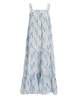 Gigi Maxi Dress, BLUE/GREEN/CORAL, hi-res