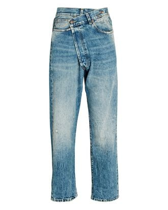 Crossover Distressed Jeans, KELLY, hi-res