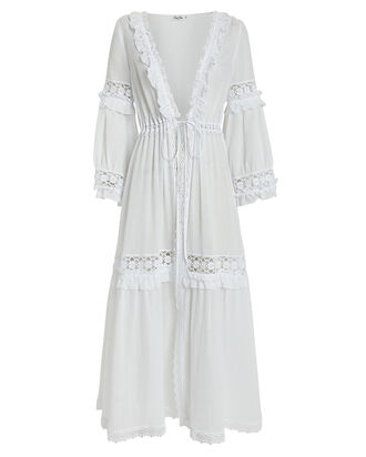 Tamara Crochet Cotton Cover-Up, WHITE, hi-res