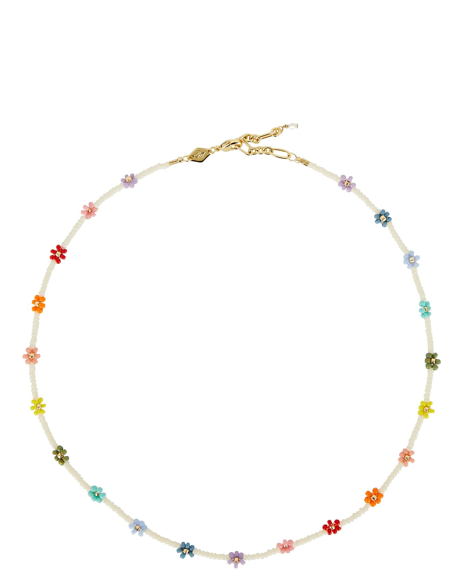 Flower Power Beaded Necklace, MULTI, hi-res