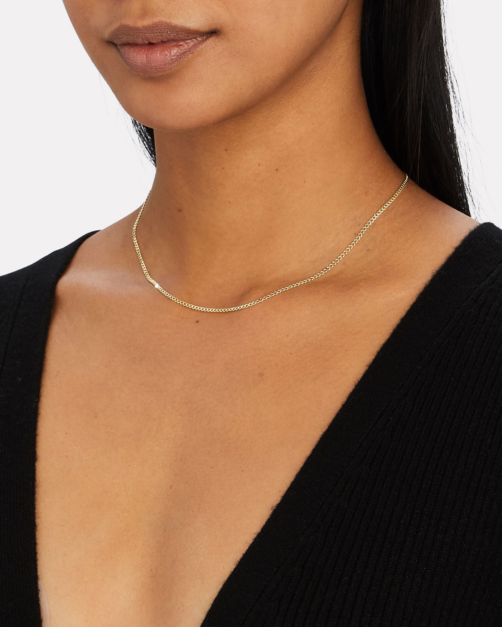 Curb Chain Necklace, GOLD, hi-res