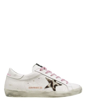 Superstar Snake-Embossed Low-Top Sneakers, WHITE, hi-res