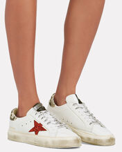 May Glitter Star Low-Top Sneakers, WHITE, hi-res