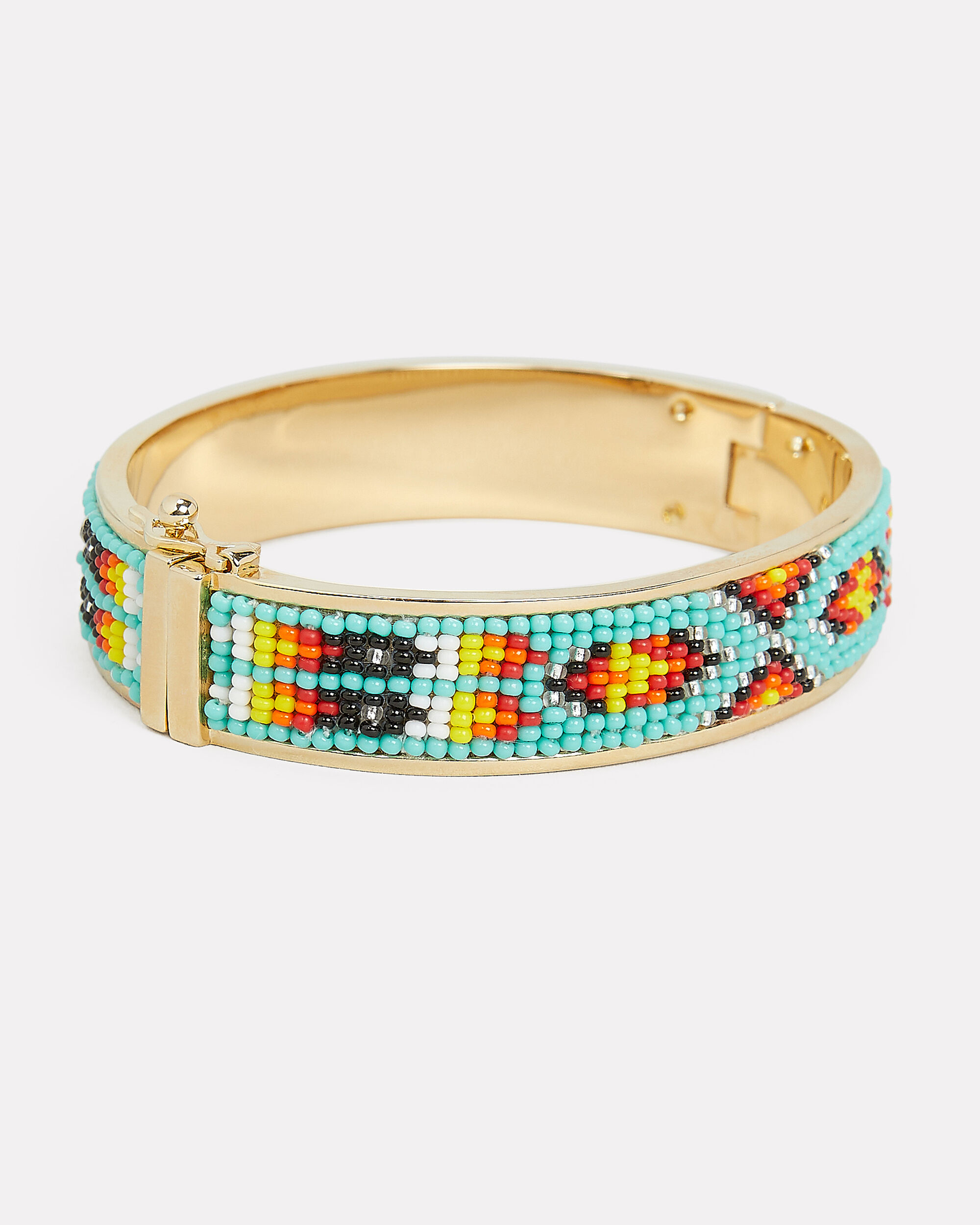 Petite Maya Bangle, AQUA/GOLD, hi-res
