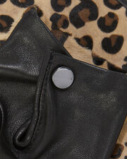 Chloe Leopard Gloves, BLACK/LEOPARD, hi-res
