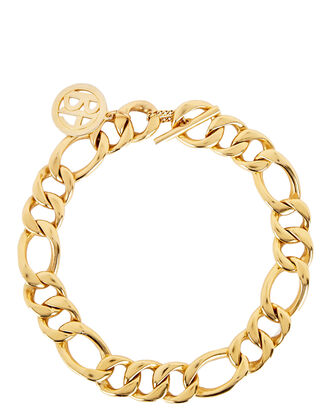 Mixed Chain-Link Necklace, GOLD, hi-res