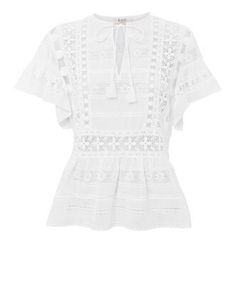 Ila Lace Blouse, WHITE, hi-res