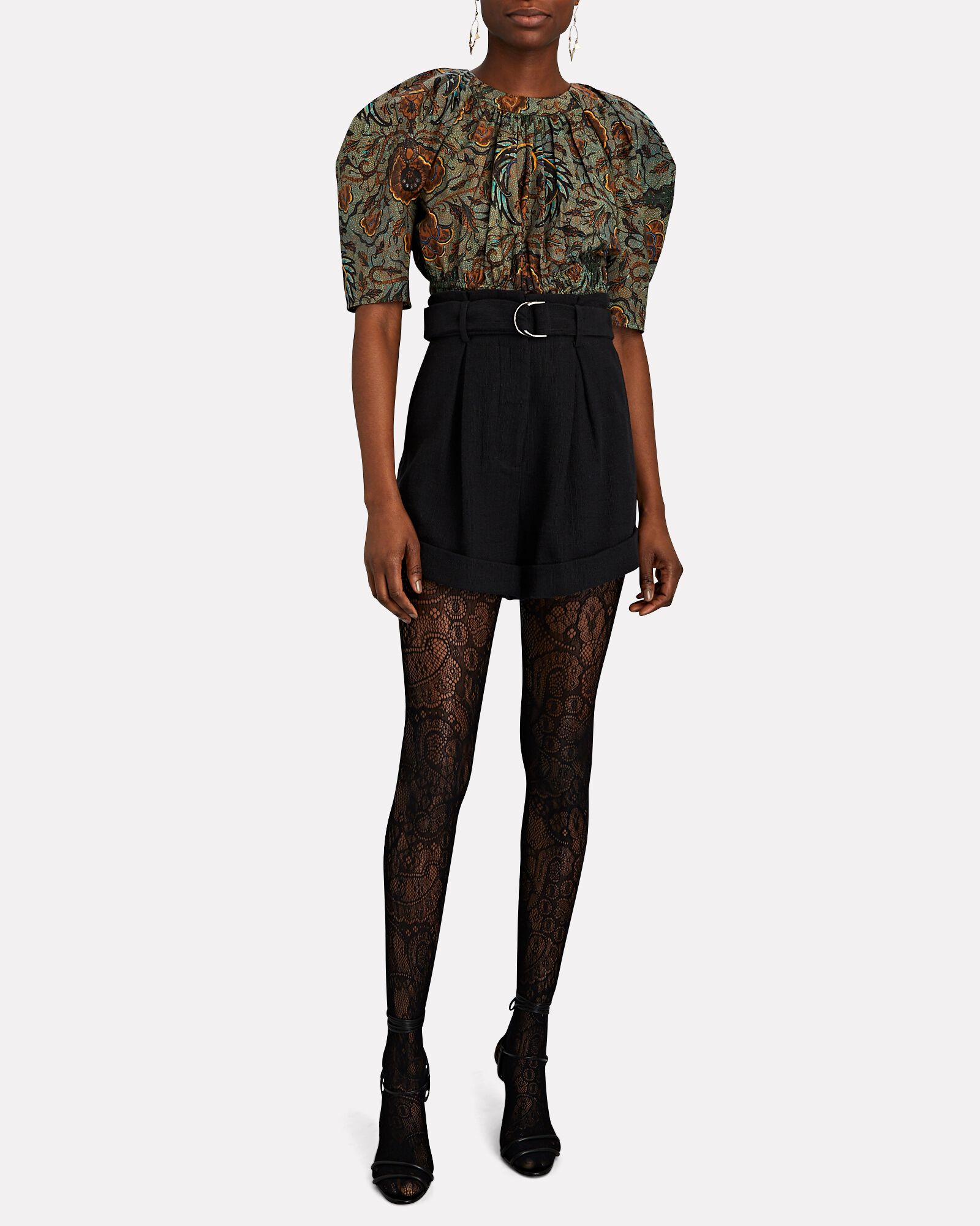 Eugenie Lace Tights, BLACK, hi-res