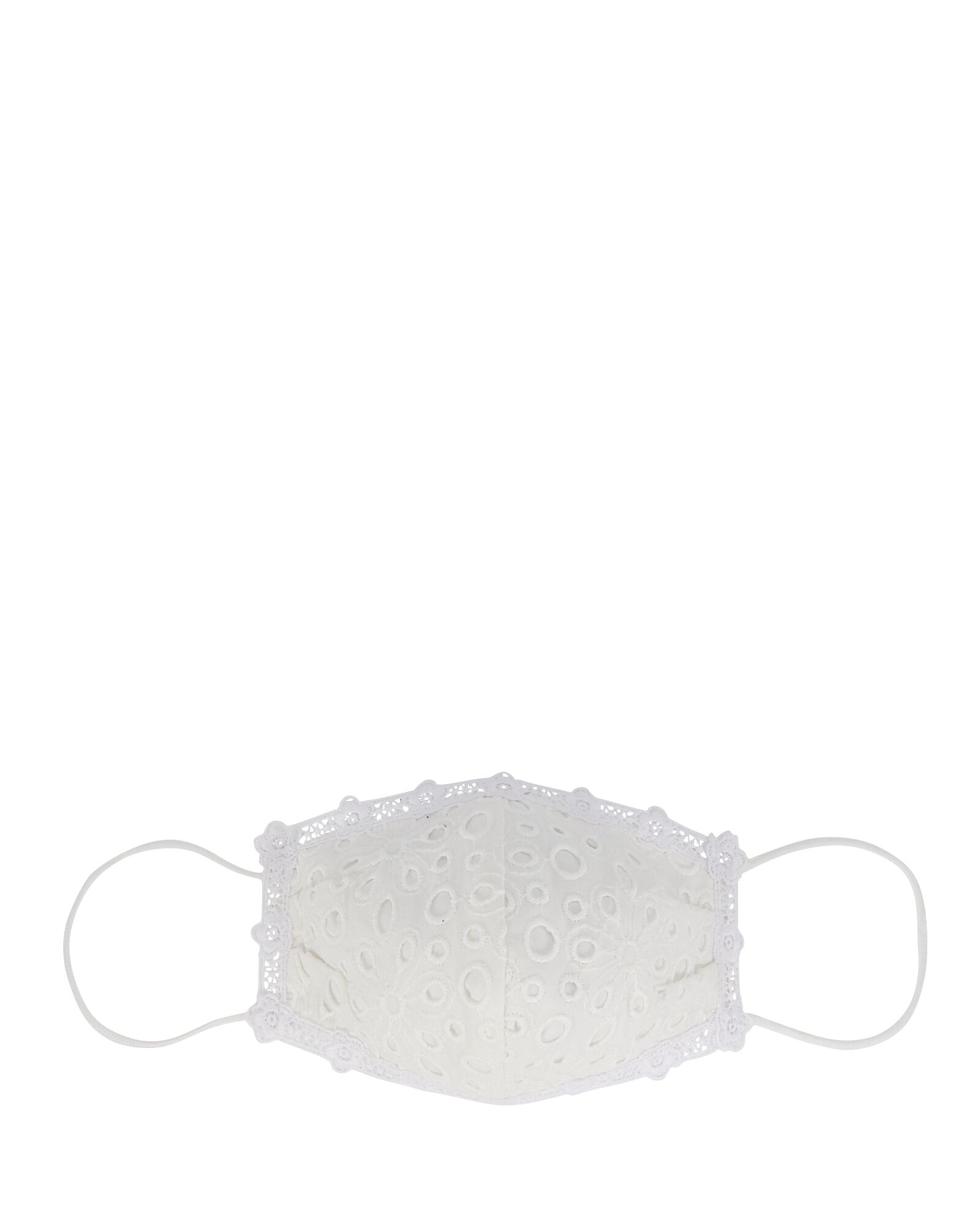Breezy Barista Eyelet Face Mask, WHITE, hi-res