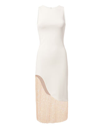 Natasha Sequin Dress, WHITE, hi-res