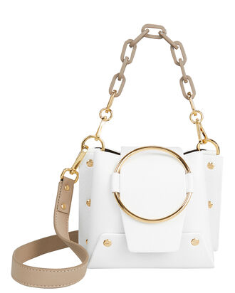 Delila Gold Chain White Bag, WHITE/BEIGE, hi-res
