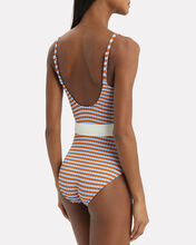 Nina Belted One Piece Swimsuit, MULTI, hi-res