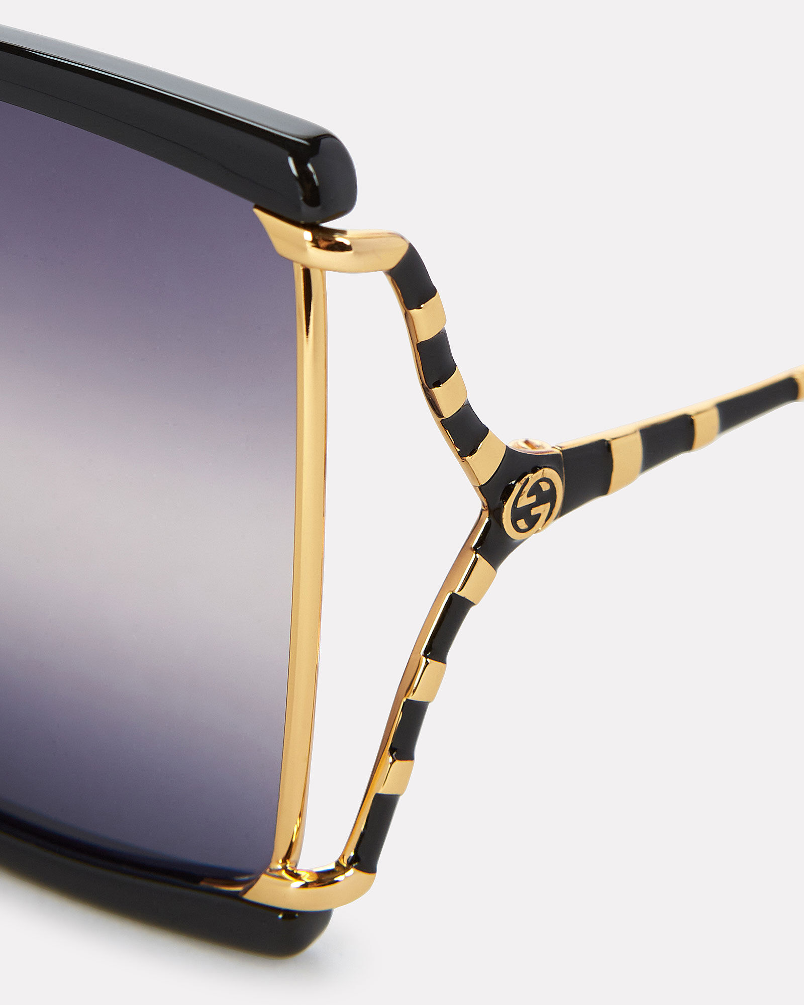 Oversized Butterfly Sunglasses, BLACK/GOLD, hi-res