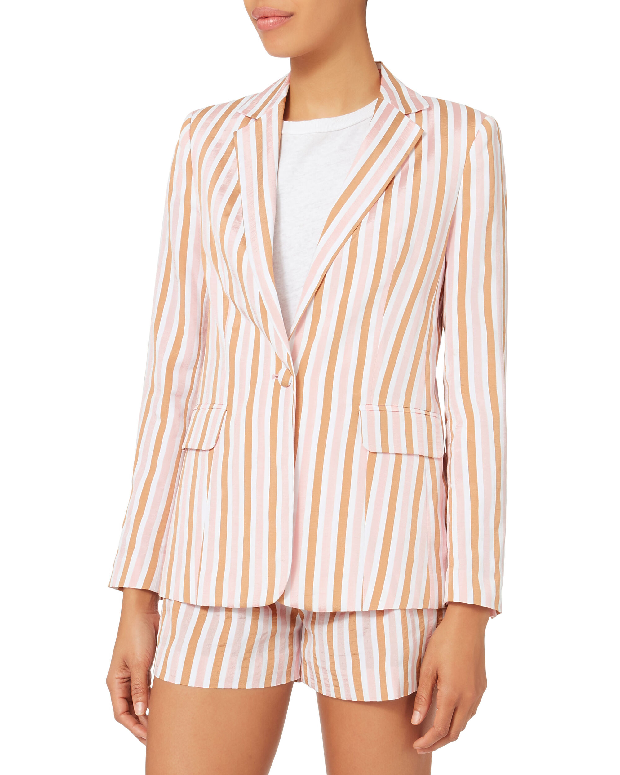 Pink Striped Blazer, MULTI, hi-res