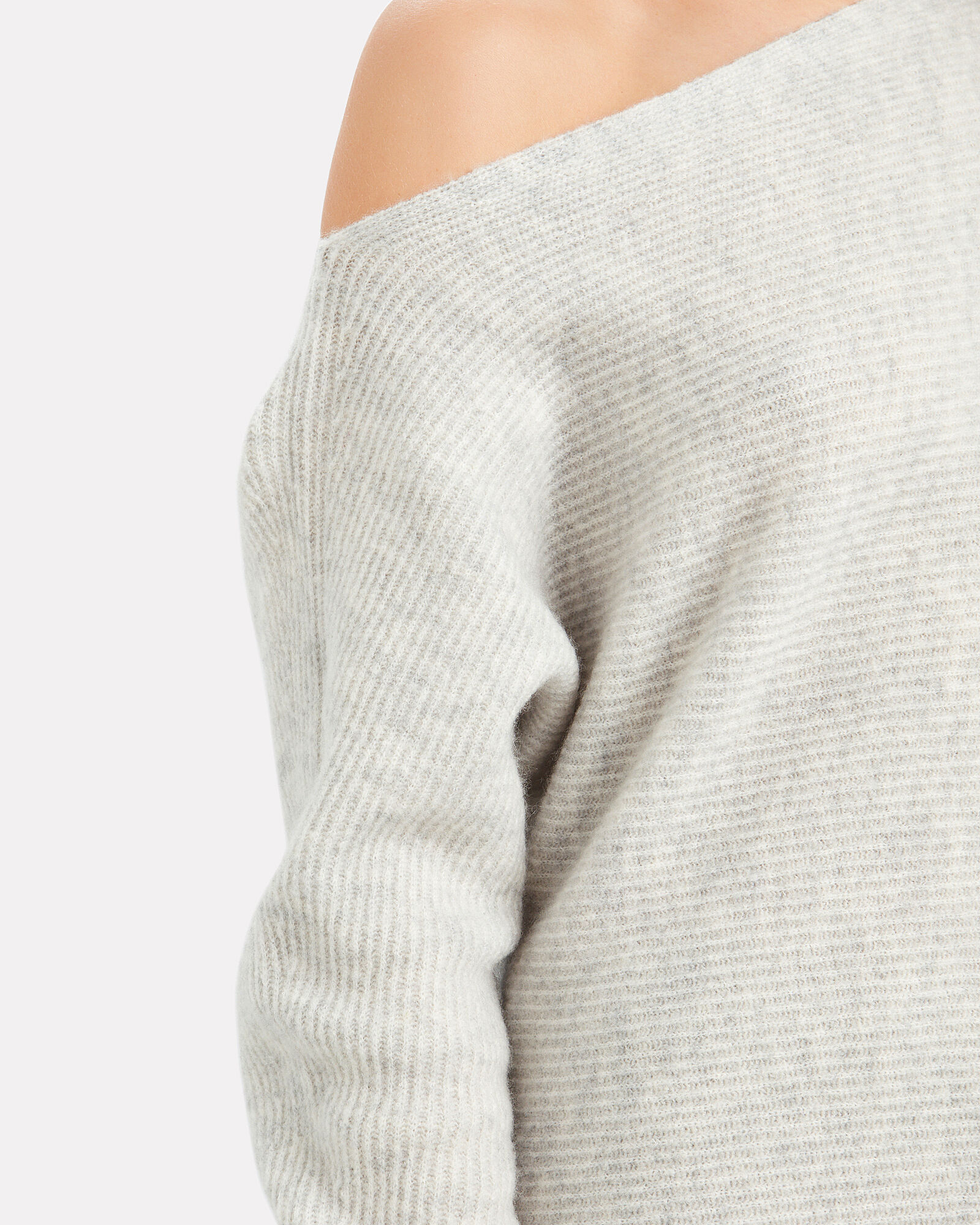 Virginia Off-the-Shoulder Sweater, DOVE GREY, hi-res