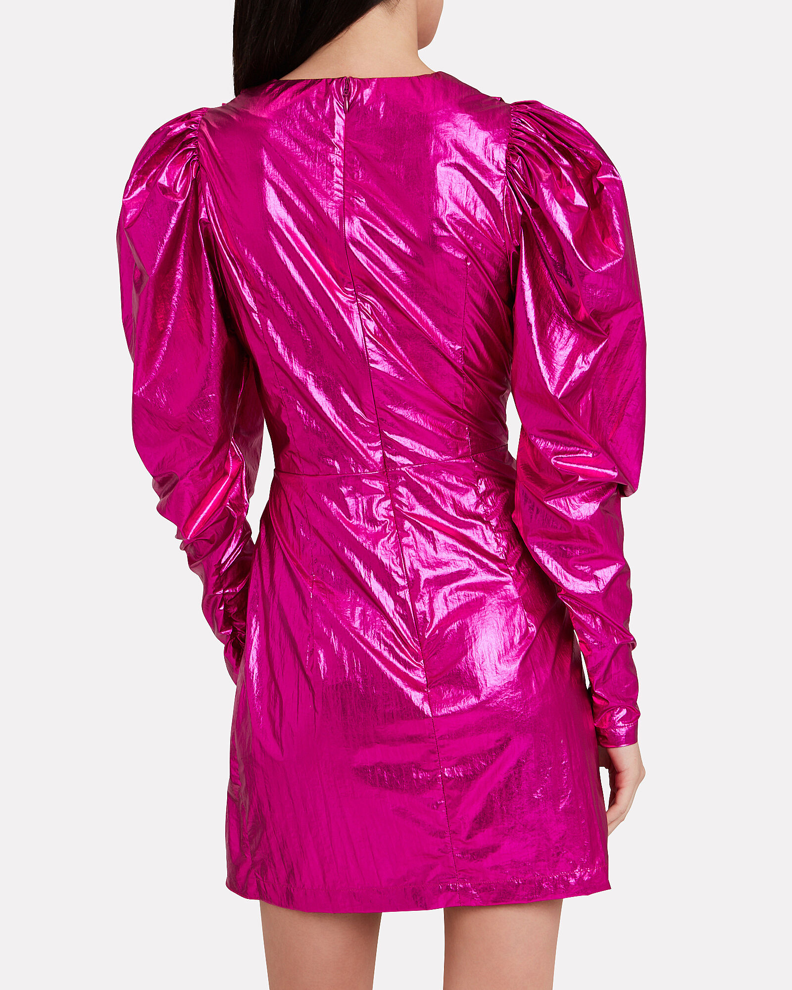 No. 24 Raspberry Metallic Mini Dress, PINK-DRK, hi-res