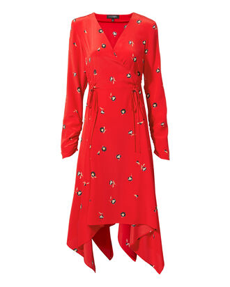 Josie Printed Maxi Dress, RED, hi-res