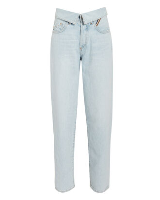 Flip Straight Leg Jeans, LIGHT WASH DENIM, hi-res