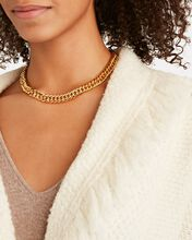 Fishtail Chain Necklace, GOLD, hi-res