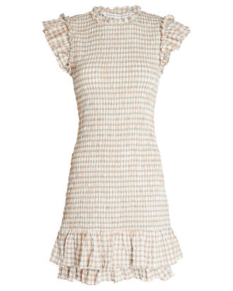 Cici Smocked Gingham Dress, MULTI, hi-res