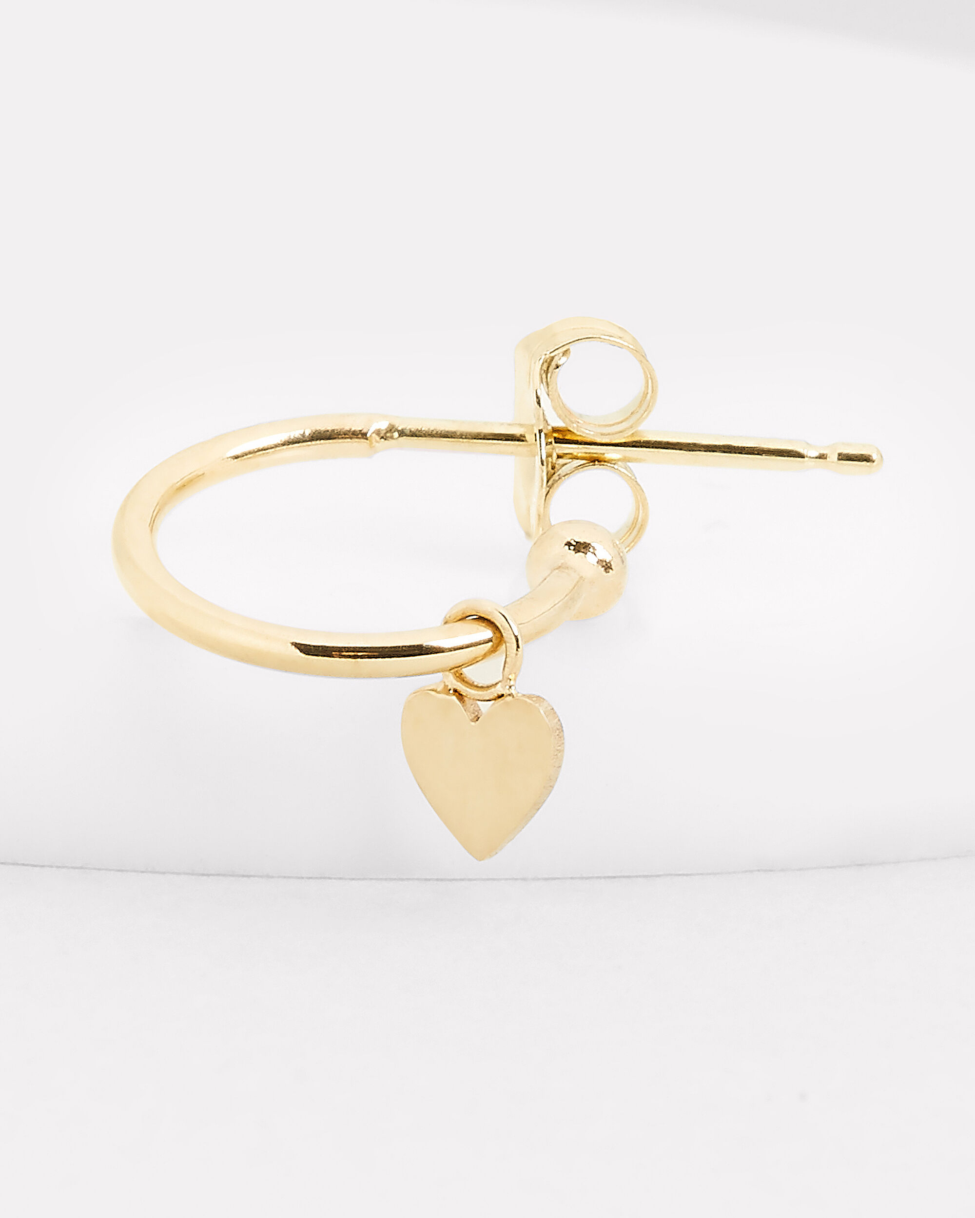 Itty Bitty Heart Huggie Single Earring, GOLD, hi-res
