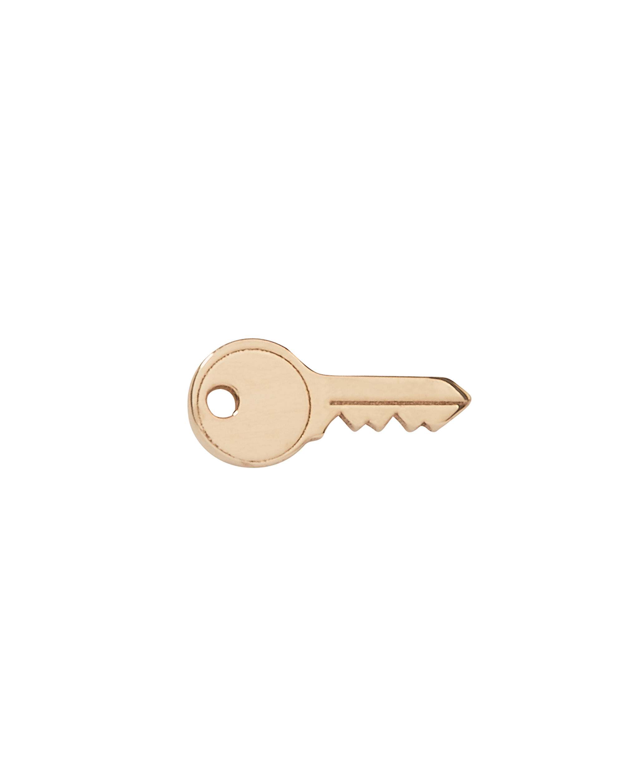 Key Stud Earring, GOLD, hi-res