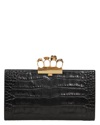 Skull Ring Clutch, BLACK, hi-res