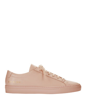 Achilles Pink Leather Sneakers, PINK, hi-res