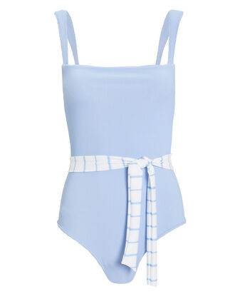 Betty One Piece Swimsuit, BLUE-LT, hi-res