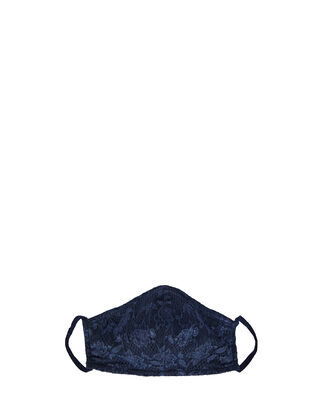 Never Say Never Lace Face Mask, NAVY, hi-res