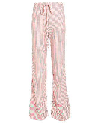 Jerry Striped Drawstring Pants, RED/WHITE STRIPE, hi-res
