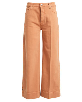 High-Rise Wide Leg Jeans, BLUSH, hi-res