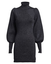 Audrey Lurex Turtleneck Sweater Dress, GUNMETAL, hi-res