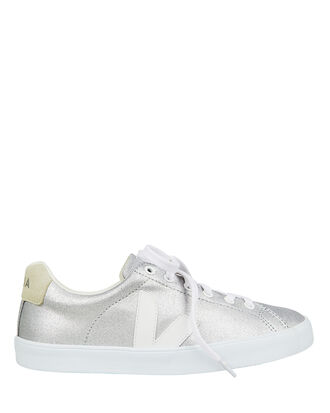 Esplar Silver Low-Top Sneakers, SILVER, hi-res