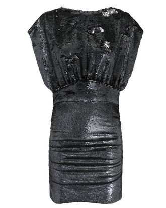 Miracle Sequin Mini Dress, BLACK, hi-res