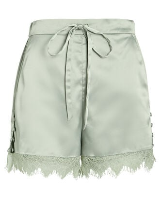 Army Charmeuse Tap Shorts, MINT, hi-res