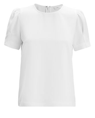Mariana Crepe Top, WHITE, hi-res