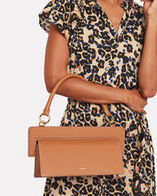 Ada Leather Shoulder Bag, BROWN, hi-res