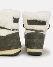 Shearling And Suede Moon Boots, GREEN, hi-res