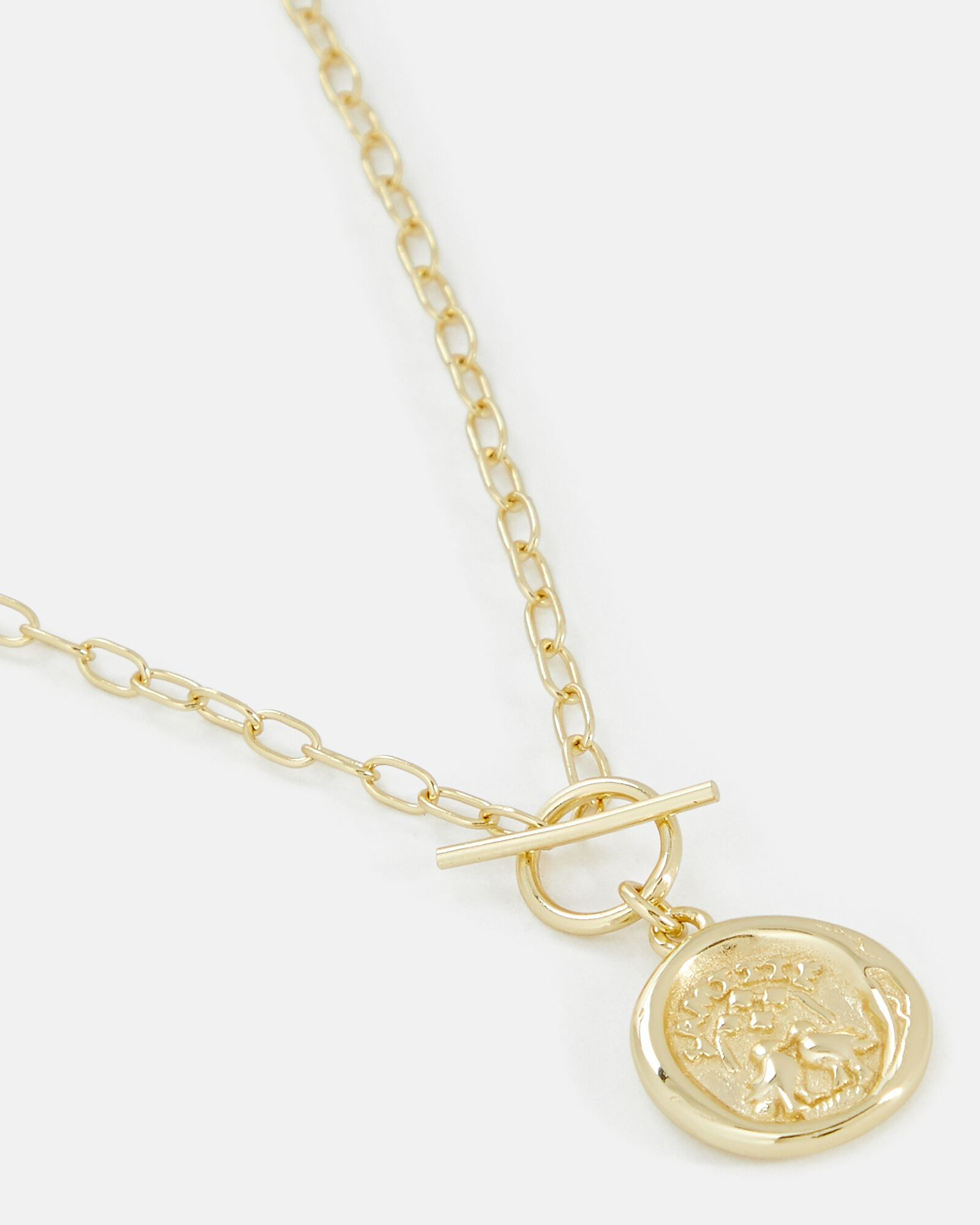 Toggle Pendant Chain-Link Necklace, GOLD, hi-res