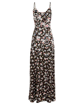 Raissa Silk Floral Dress, BLACK/FLORAL, hi-res