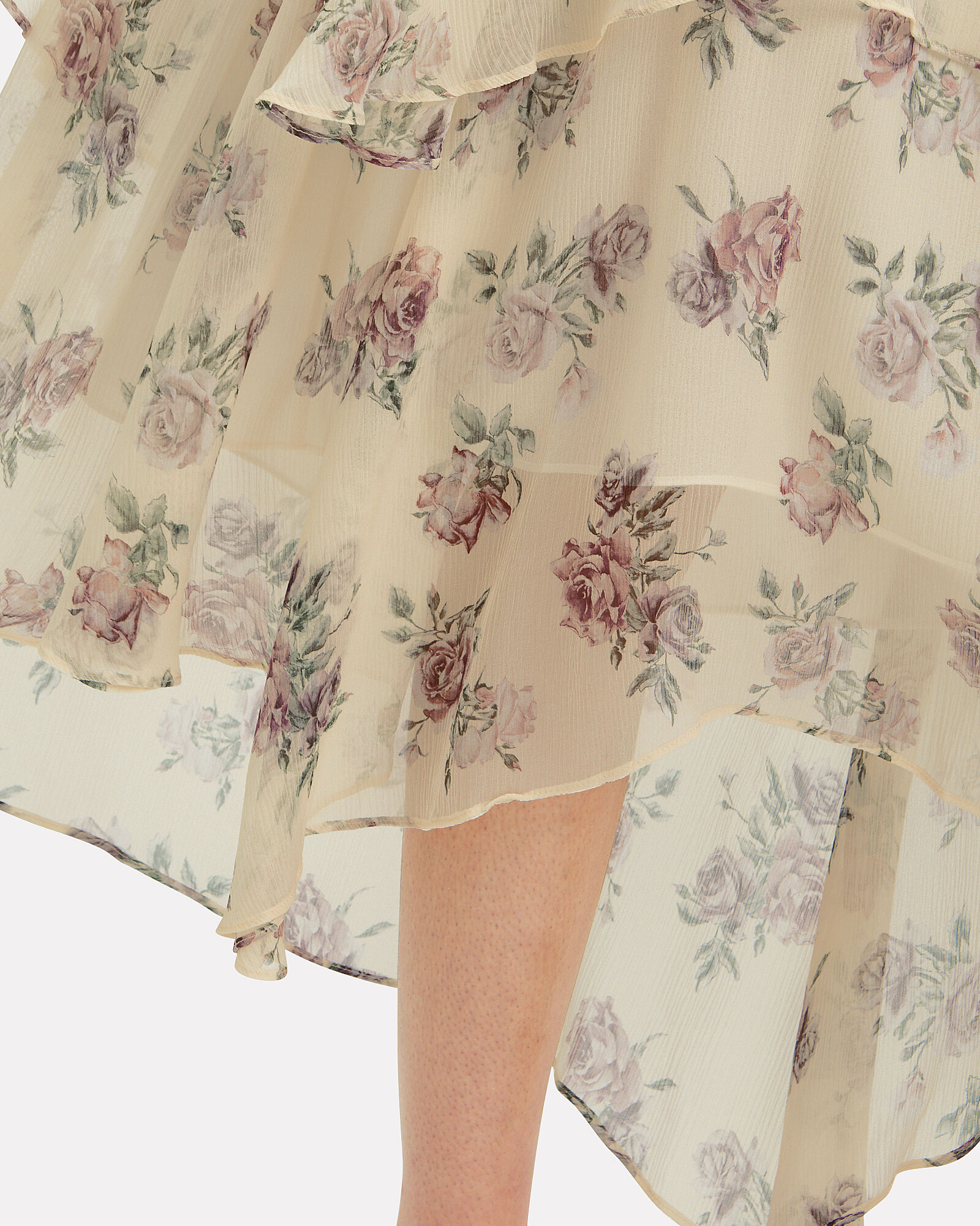 Alex Silk Floral Midi Skirt, MULTI, hi-res