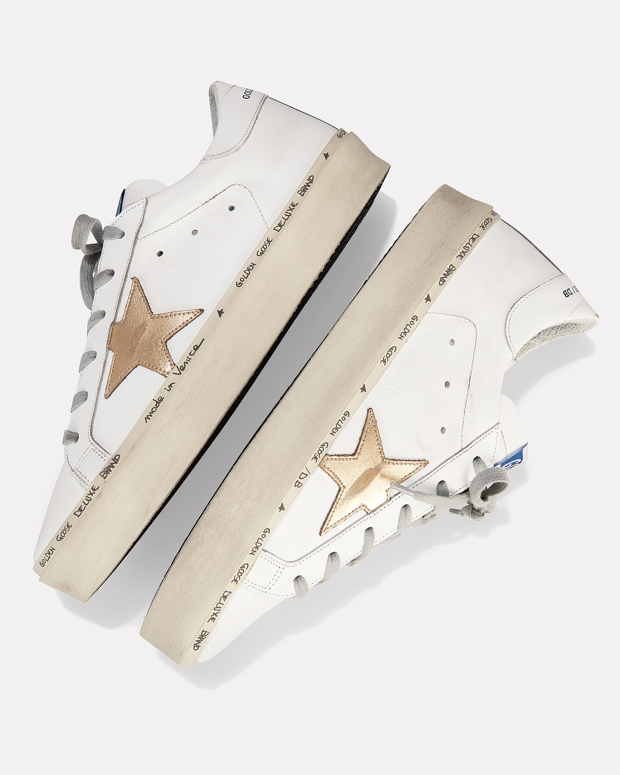 Hi Star Gold Leather Low-Top Sneakers, WHITE, hi-res