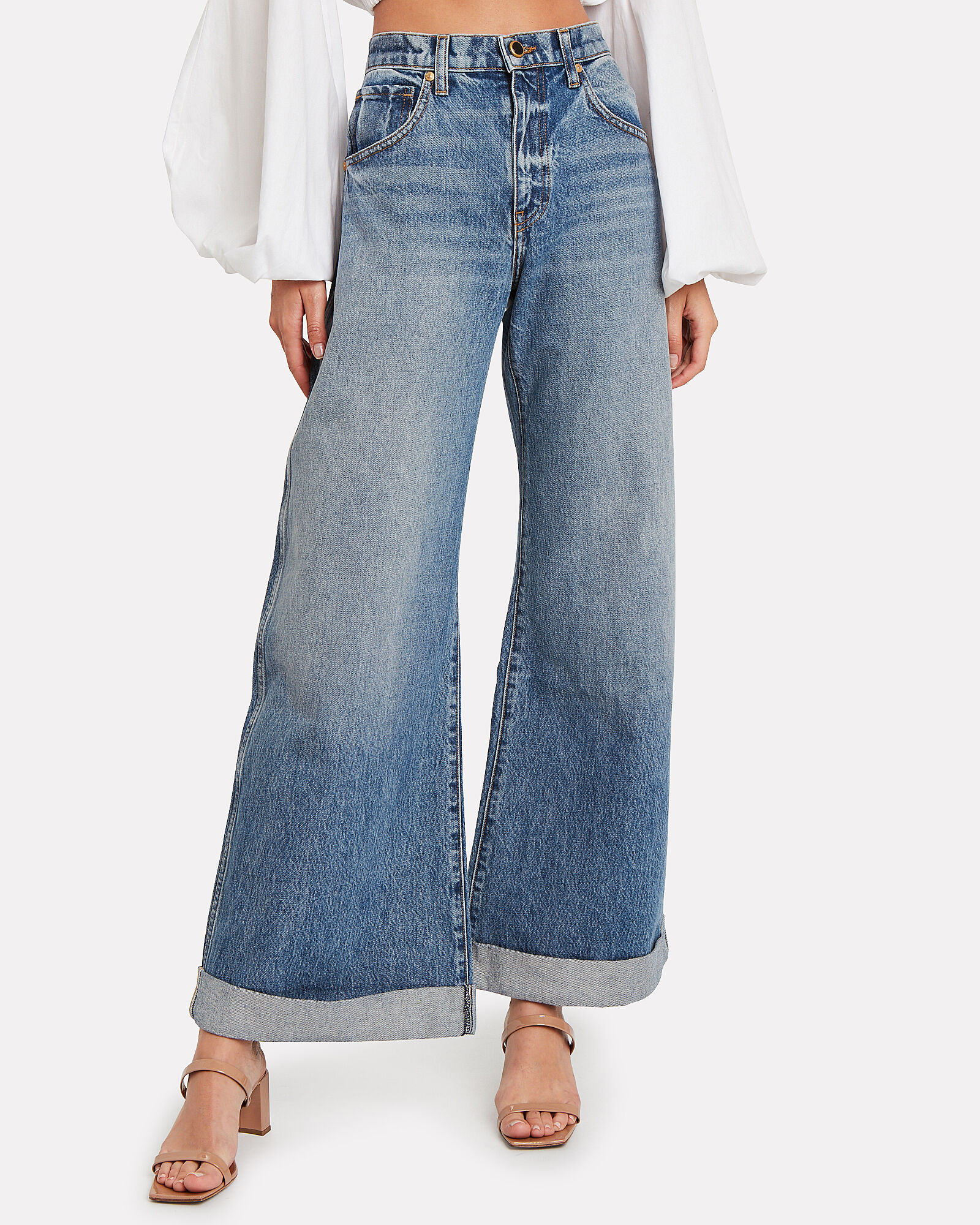 Noelle Wide Leg Jeans, DARK WASH DENIM, hi-res