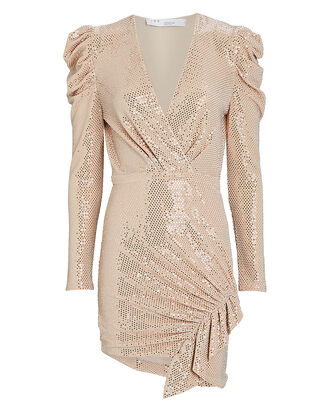 Lou Lou Sequin Mini Dress, BLUSH, hi-res