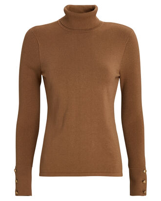 Odette Turtleneck Sweater, BROWN, hi-res