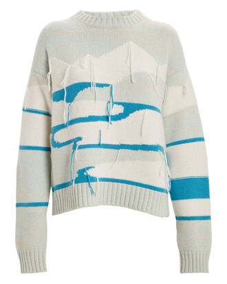 Glacial Daylight Wool-Cashmere Sweater, BLUE-LT, hi-res
